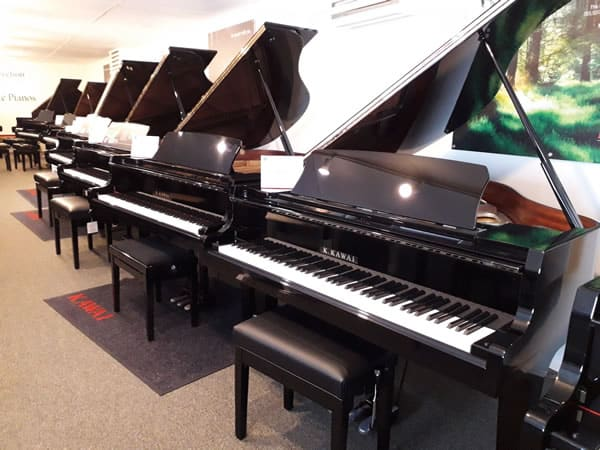Inside the Countrywide Pianos showroom