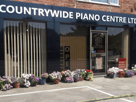 Countrywide Piano Centre showroom